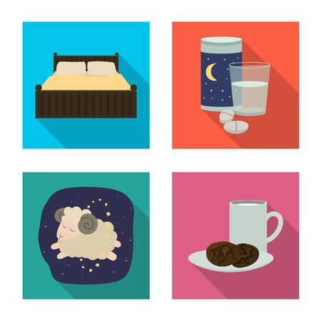 Vector illustration of dreams and night icon. Collection of dreams and bedroom stock vector illustration. 向量圖像
