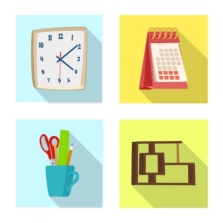 Vector design of furniture and work sign. Collection of furniture and home vector icon for stock. 向量圖像