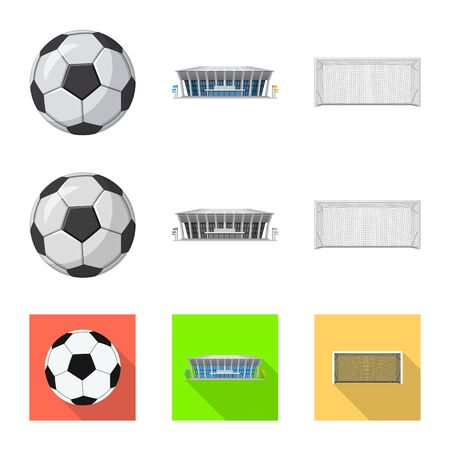 Isolated object of soccer and gear symbol. Collection of soccer and tournament stock symbol for web.