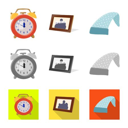 Vector illustration of dreams and night. Set of dreams and bedroom vector icon for stock. Ilustração