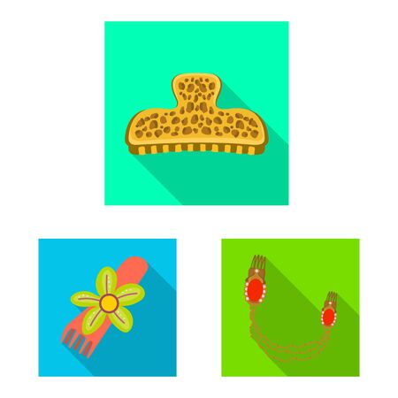 Isolated object of beauty and fashion . Set of beauty and female vector icon for stock.