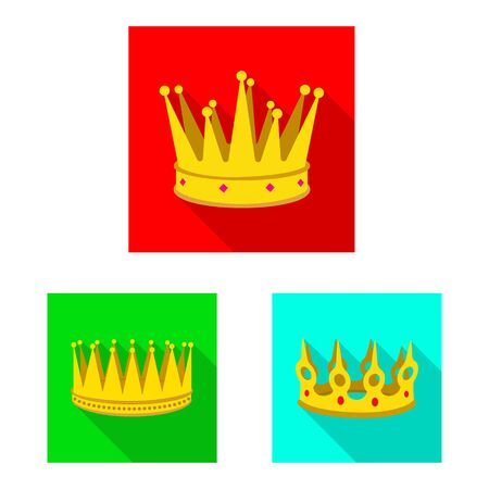 Vector illustration of medieval and nobility sign. Set of medieval and monarchy vector icon for stock.