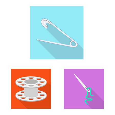 Vector design of craft and handcraft. Collection of craft and industry vector icon for stock.