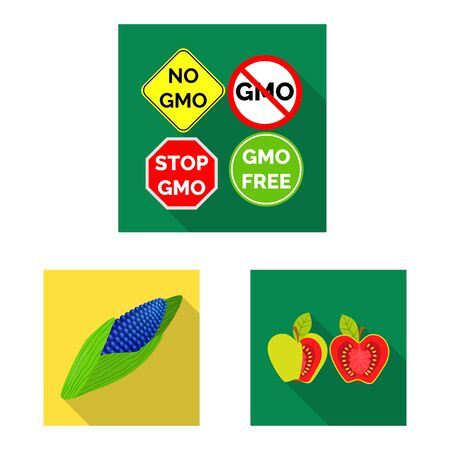 Vector design of test and synthetic sign. Set of test and laboratory vector icon for stock. Ilustração
