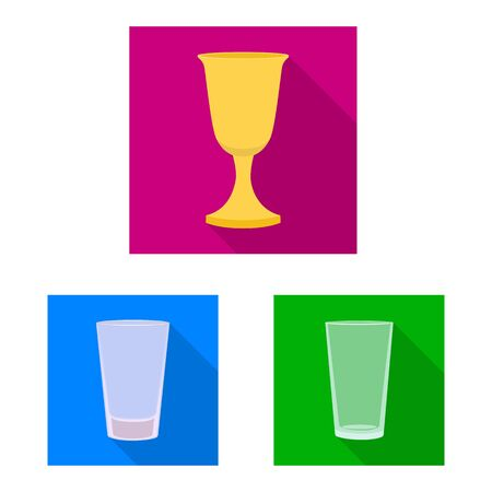 Vector design of drinks and restaurant icon. Set of drinks and celebration vector icon for stock.