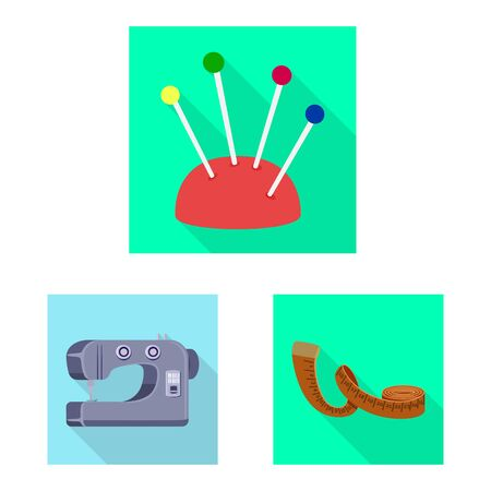 Isolated object of craft and handcraft  . Set of craft and industry stock vector illustration.