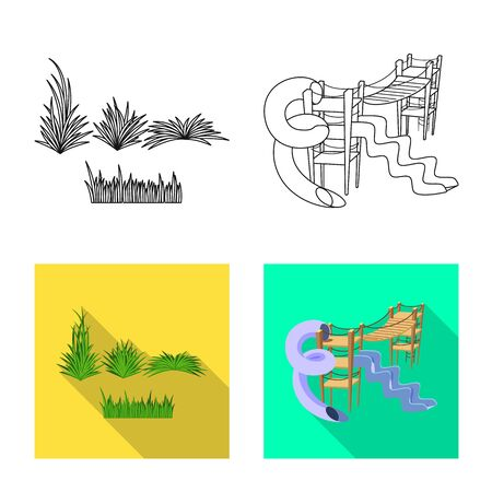 Vector design of urban and street symbol. Collection of urban and relaxation stock vector illustration.