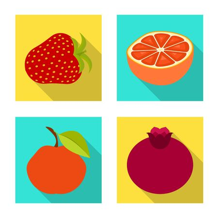 Vector design of fresh and red sign. Collection of fresh and organic stock vector illustration.