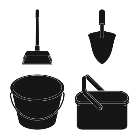 Vector illustration of service and washing sign. Collection of service and housework stock symbol for web.