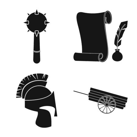 Vector design of traditional and renaissance symbol. Collection of traditional and history vector icon for stock.