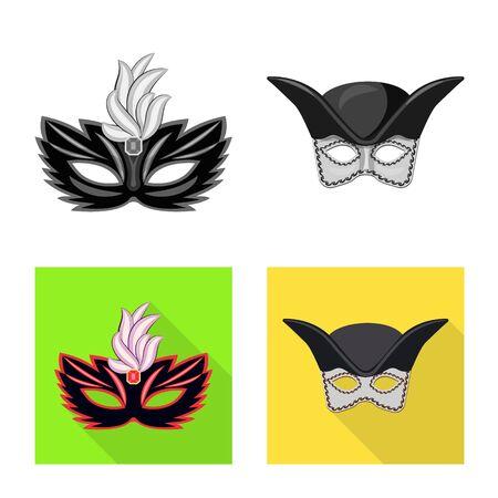 Vector illustration of luxury and celebration. Set of luxury and hide stock symbol for web. Çizim
