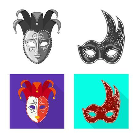 Vector design of luxury and celebration icon. Set of luxury and hide vector icon for stock. Çizim