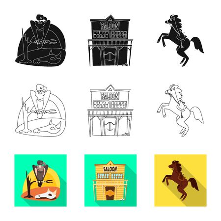 Vector illustration of texas and history. Set of texas and culture stock symbol for web.