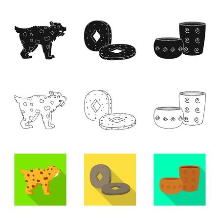 Vector illustration of evolution and neolithic sign. Set of evolution and primeval vector icon for stock.