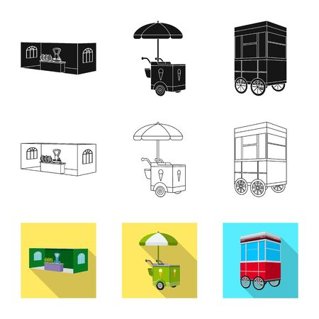 Vector illustration of marketing and tent symbol. Collection of marketing and outdoor stock symbol for web.
