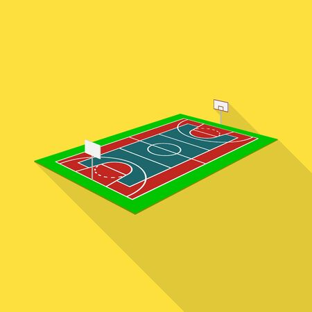 Isolated object of basketball and field symbol. Collection of basketball and arena stock symbol for web.