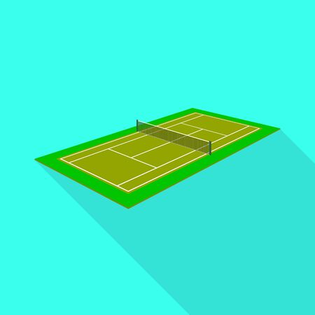 Vector illustration of tennis and field icon. Set of tennis and surface stock vector illustration.