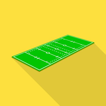 Vector design of rugby and field icon. Set of rugby and green stock vector illustration.