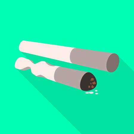 Vector design of cigarette and habit symbol. Set of cigarette and pack stock symbol for web. Ilustração