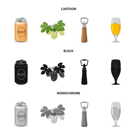 Isolated object of pub and bar icon. Collection of pub and interior stock symbol for web.
