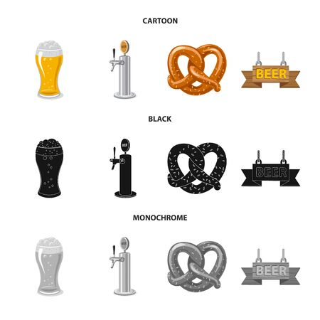 Vector design of pub and bar symbol. Collection of pub and interior vector icon for stock.