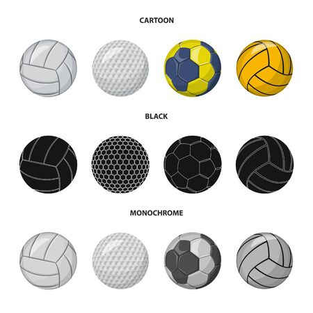 Vector illustration of sport and ball icon. Collection of sport and athletic stock vector illustration.
