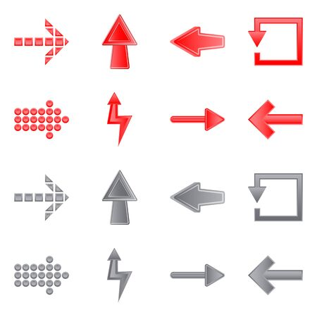 Isolated object of element and arrow sign. Set of element and direction stock vector illustration.