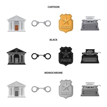 Vector illustration of law and lawyer icon. Collection of law and justice stock vector illustration. Standard-Bild - 129925276