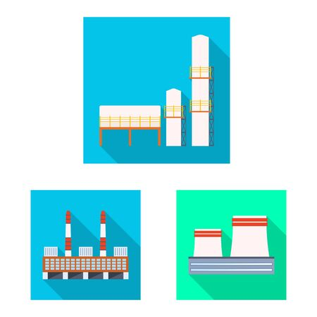 Isolated object of architecture and technology logo. Set of architecture and building stock vector illustration. Ilustrace