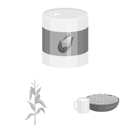 Vector illustration of agriculture and nutrition symbol. Set of agriculture and vegetable stock vector illustration. Banque d'images - 129899842
