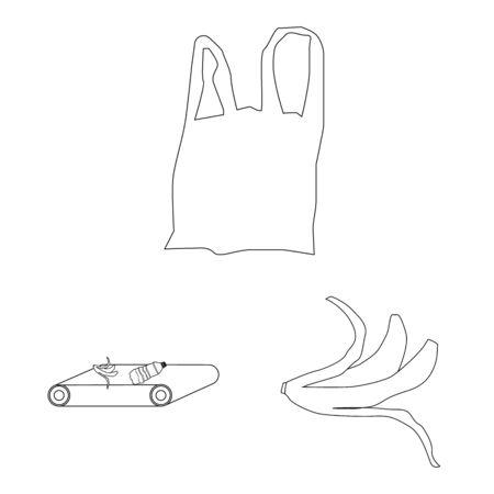Vektor-Illustration von Ordnung und Recycling-Symbol. Satz von Ordnungs- und Sortiervektorsymbolen für Aktien.