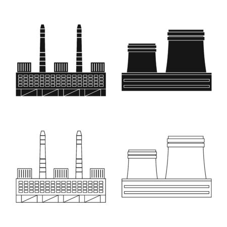 Vector illustration of production and structure symbol. Collection of production and technology vector icon for stock. Ilustrace