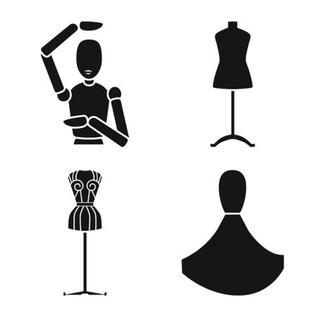 Vector design of mannequin and fashion icon. Collection of mannequin and equipment stock symbol for web.  イラスト・ベクター素材