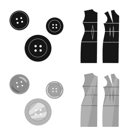 Vector design of craft and handcraft icon. Collection of craft and industry stock vector illustration.