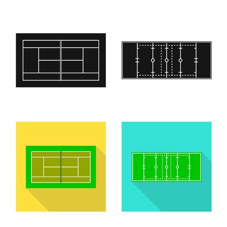 Isolated object of scheme and construction icon. Set of scheme and bullring vector icon for stock.