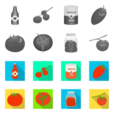 Vector design of vegetable and delicious sign. Collection of vegetable and natural vector icon for stock.