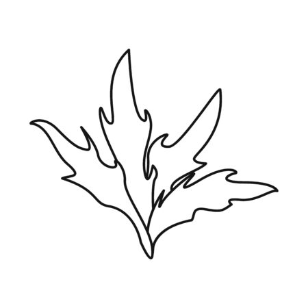 Vector design of bush and park symbol. Set of bush and field vector icon for stock.