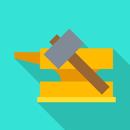 Vector illustration of hammer and hephaestus icon