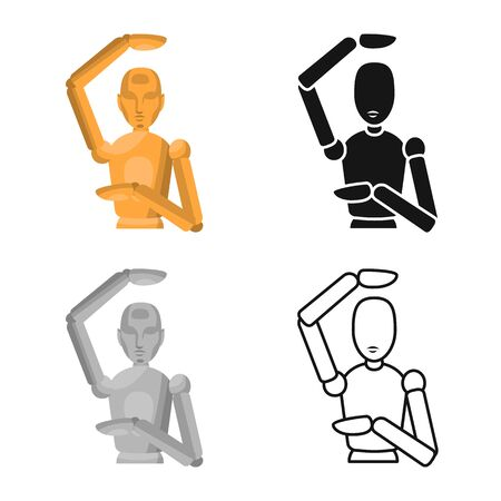 Vector illustration of dummy and man icon. Web element of dummy and clothes stock vector illustration.