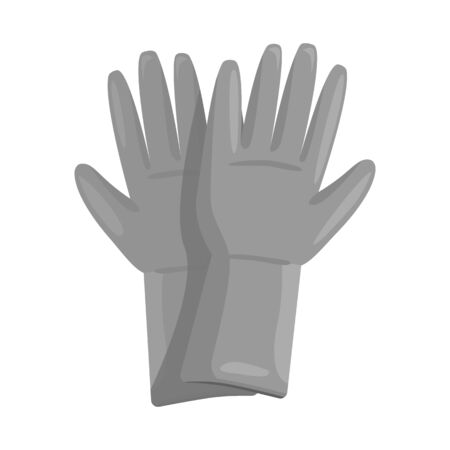 Vector illustration of rubber and glove. Web element of rubber and green vector icon for stock.