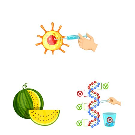 Vector design of modified and genetically icon. Collection of modified and science stock vector illustration. 向量圖像