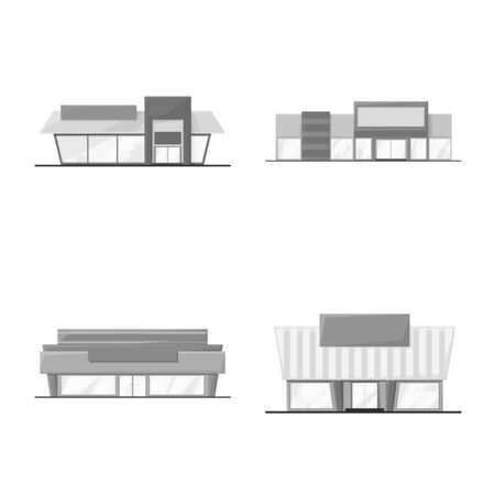Vector design of grocery and business. Set of grocery and construction stock symbol for web.