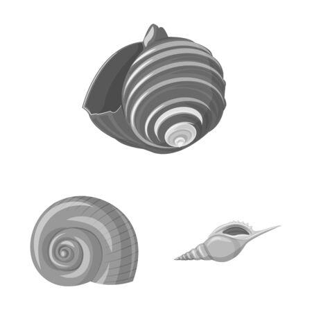 Vector design of aquarium and aquatic icon. Set of aquarium and decoration vector icon for stock.