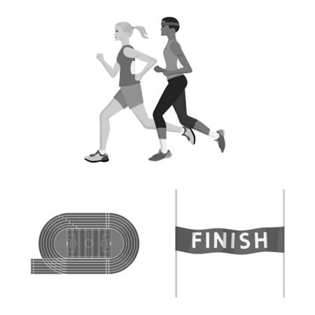 Isolated object of success and marathon symbol. Collection of success and winner stock symbol for web.