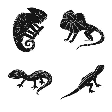 Vector illustration of zoo and environment icon. Set of zoo and reptile stock symbol for web. Stockfoto - 130010115