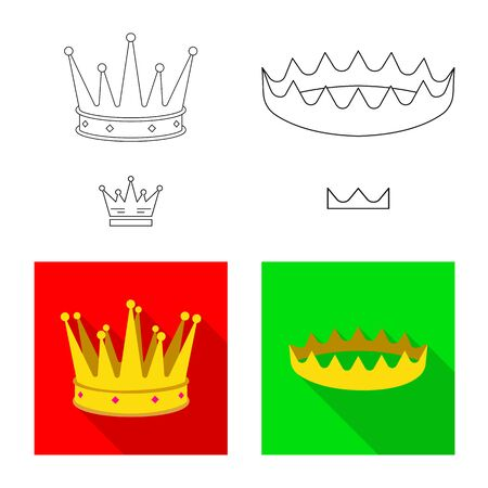 Vector design of medieval and nobility sign. Set of medieval and monarchy stock symbol for web. Stok Fotoğraf - 130010205
