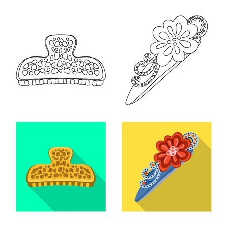 Isolated object of beauty and fashion icon. Collection of beauty and female stock symbol for web.