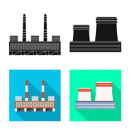 Vector illustration of production and structure . Collection of production and technology vector icon for stock.