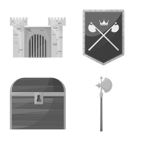 Vector illustration of heritage and ancient  . Set of heritage and culture stock symbol for web.