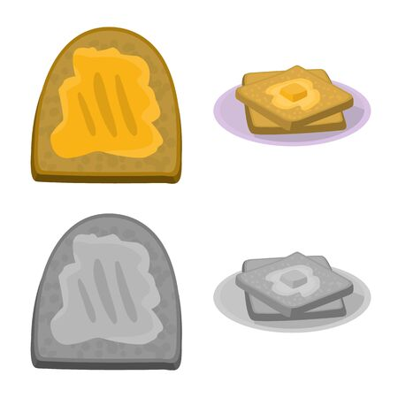 Vector design of creamy and product icon. Set of creamy and farm stock vector illustration.  イラスト・ベクター素材